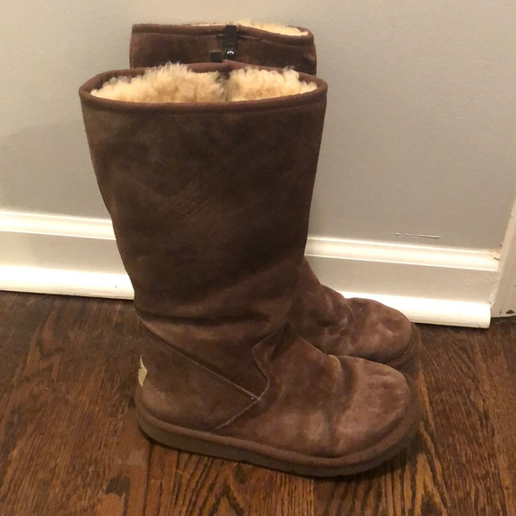 Brown Ugg Boots With Side Zipper | Poshmark